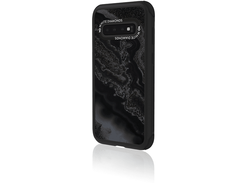 WHITE DIAMONDS Tough Mineral , Backcover, Samsung, Galaxy S10, Schwarz