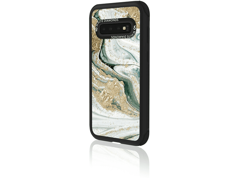 WHITE DIAMONDS Tough Marble Squirl , Backcover, Samsung, Galaxy S10, Turquoise Squirl