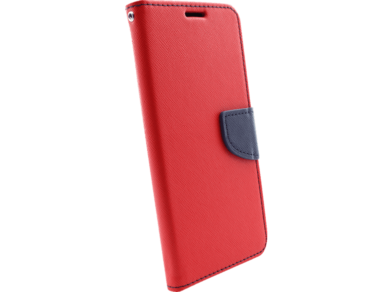 AGM  27929 Fashion Bookcover Samsung Galaxy S10+ Obermaterial Kunstleder, Thermoplastisches Polyurethan Rot/Dunkelblau | 04026436279298