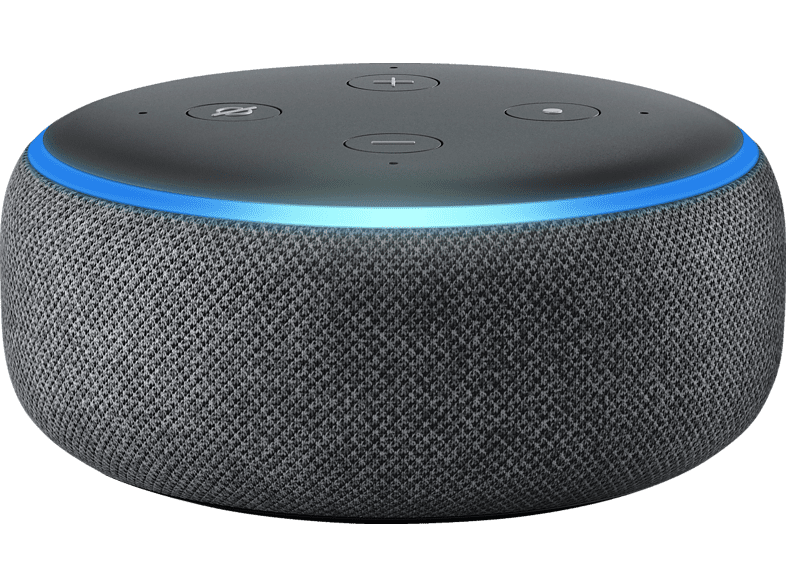 AMAZON Echo Dot 3. Generation Smart Speaker mit Sprachsteuerung, Schwarz/ Anthrazit