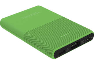 TERRATEC P50 Pocket, Powerbank, 5.000 mAh (18.5 Wh), Green Flash