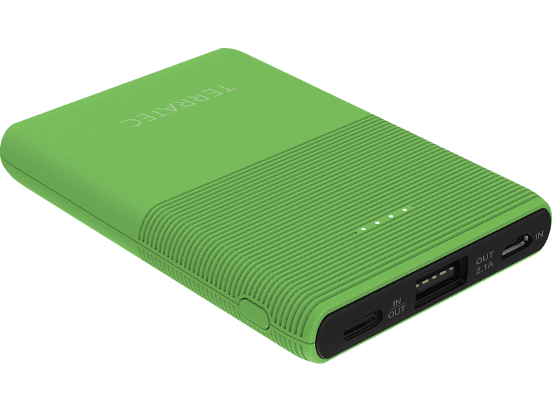 TERRATEC P50 Pocket Powerbank 5.000 mAh (18.5 Wh) Green Flash