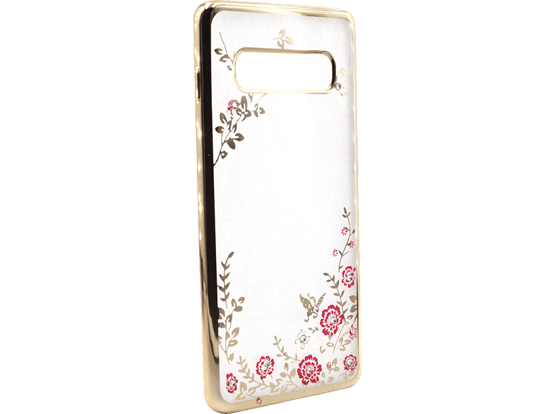 AGM 27952 Feeling , Backcover, Samsung, Galaxy S10+, Thermoplastisches Polyurethan, Kunststoff, Gold