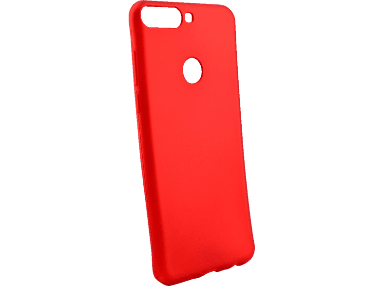 AGM 27925 Soft , Backcover, Huawei, Y7 (2018), Thermoplastisches Polyurethan, Rot