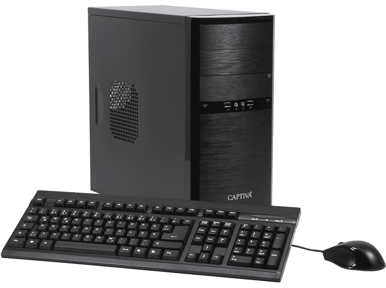 CAPTIVA POWER-Starter I48-613, Desktop PC, Celeron® Prozessor, 8 GB RAM, 240 GB SSD, 1 TB HDD, Intel® UHD-Grafik 610, Schwarz