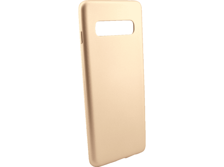 AGM 27964 Soft , Backcover, Samsung, Galaxy S10, Thermoplastisches Polyurethan, Gold
