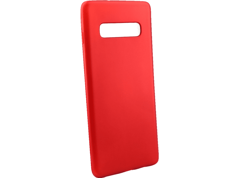 AGM 27973 Soft , Backcover, Samsung, Galaxy S10+, Thermoplastisches Polyurethan, Rot