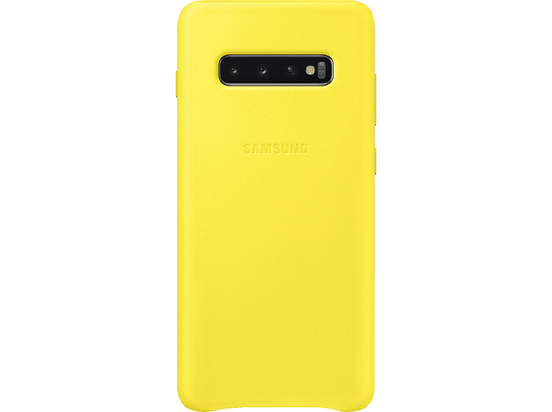SAMSUNG Leather Cover , Backcover, Samsung, Galaxy S10+, Gelb