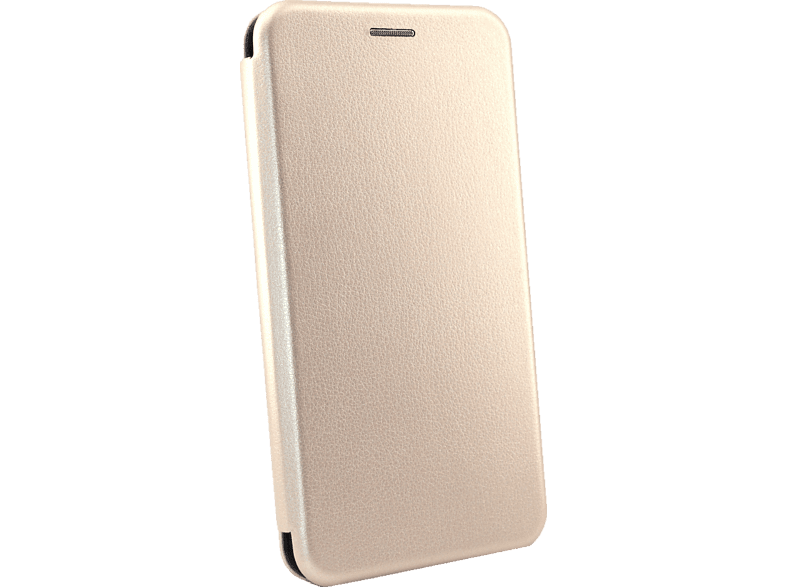 AGM 27647 Smart , Bookcover, Huawei, P Smart 2019, Obermaterial Kunstleder, Stoff, Thermoplastisches Polyurethan, Gold
