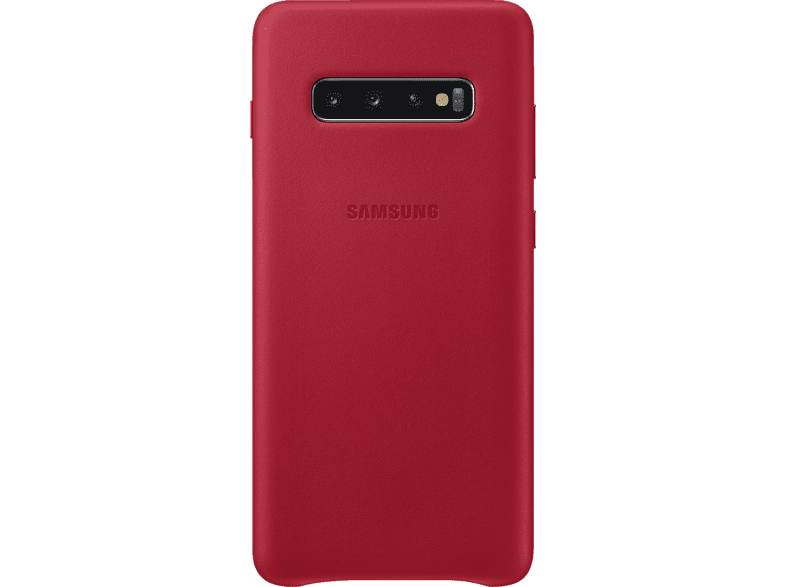SAMSUNG Leather Cover , Backcover, Samsung, Galaxy S10+, Echtleder, Rot