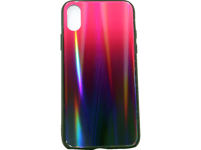 AGM 28012 Polar , Backcover, Apple, iPhone X, iPhone XS, Gehärtetes Glas, Thermoplastisches Polyurethan, Pink/Mehrfarbig
