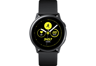 SAMSUNG  Galaxy Watch Active Smartwatch Aluminium, Fluorkautschuk (FKM), 111.5 mm, Schwarz
