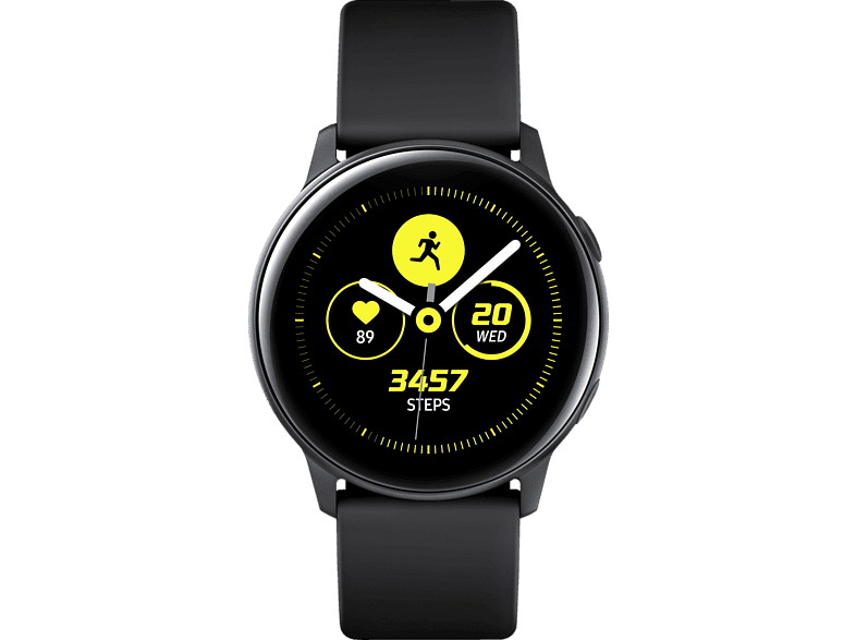 SAMSUNG  Galaxy Watch Active Smartwatch Aluminium, Fluorkautschuk (FKM), 111.5 mm, Schwarz | 08801643741815