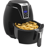 PRINCESS 01.182021.01.001 Digital Aerofryer XL Friteuse, Schwarz