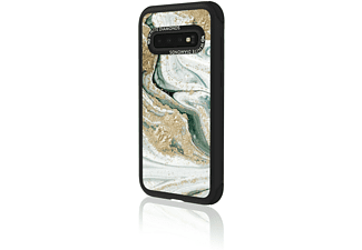 WHITE DIAMONDS Tough Marble Squirl Handyhülle, passend für Samsung Galaxy S10e, Turquoise Squirl