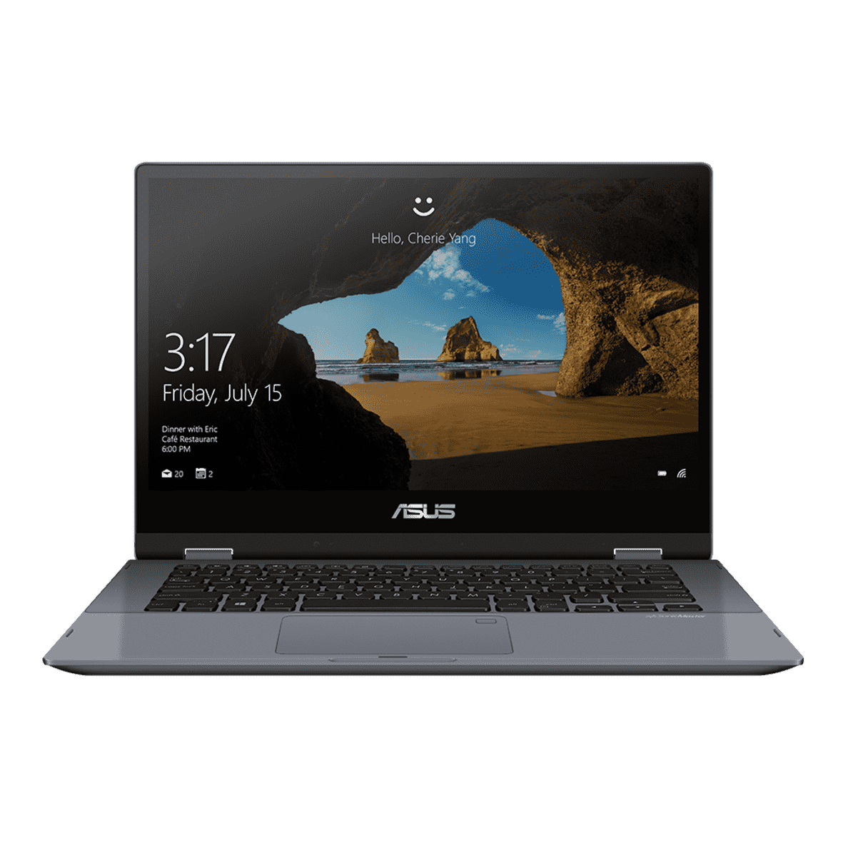 ASUS VivoBook TP412UA-EC947T Notebook mit Core™ i5, Intel UHD Graphics 620 & 4 GB RAM in Star Grey