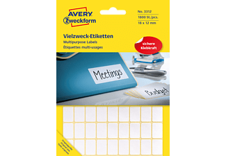 AVERY ZWECKFORM 3312, Mini-Organisations-Etiketten