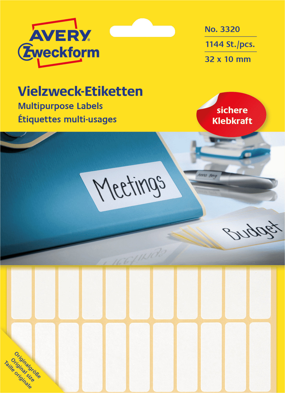 AVERY ZWECKFORM 3320 Mini-Organisations-Etiketten