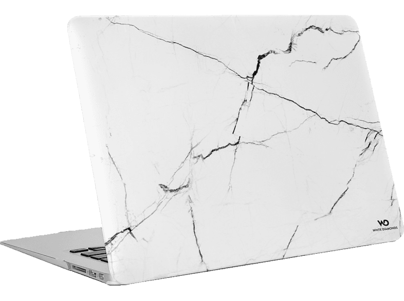 "WHITE DIAMONDS Marble Notebookhülle, Backcover, 13"", Weiß"