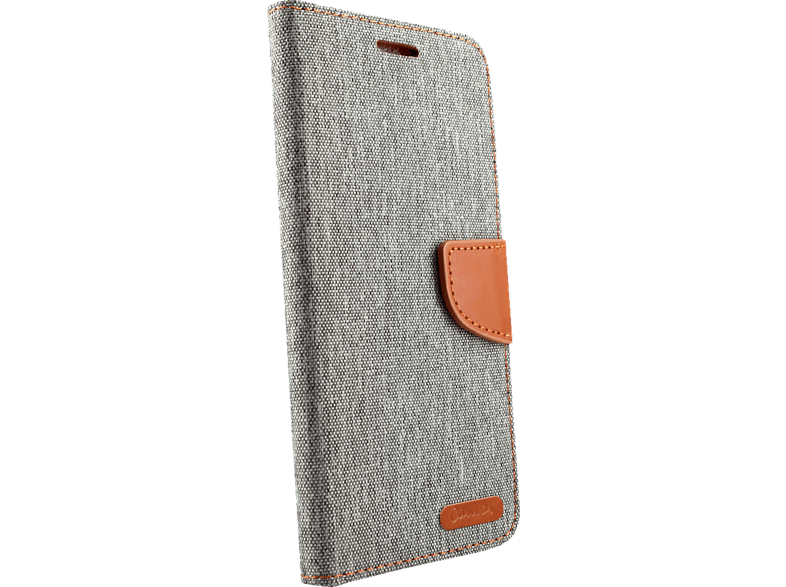 AGM 27298 Fashion Bookcover Apple iPhone XS Max Obermaterial Kunstleder, Stoff, Thermoplastisches Polyurethan Grau/Braun