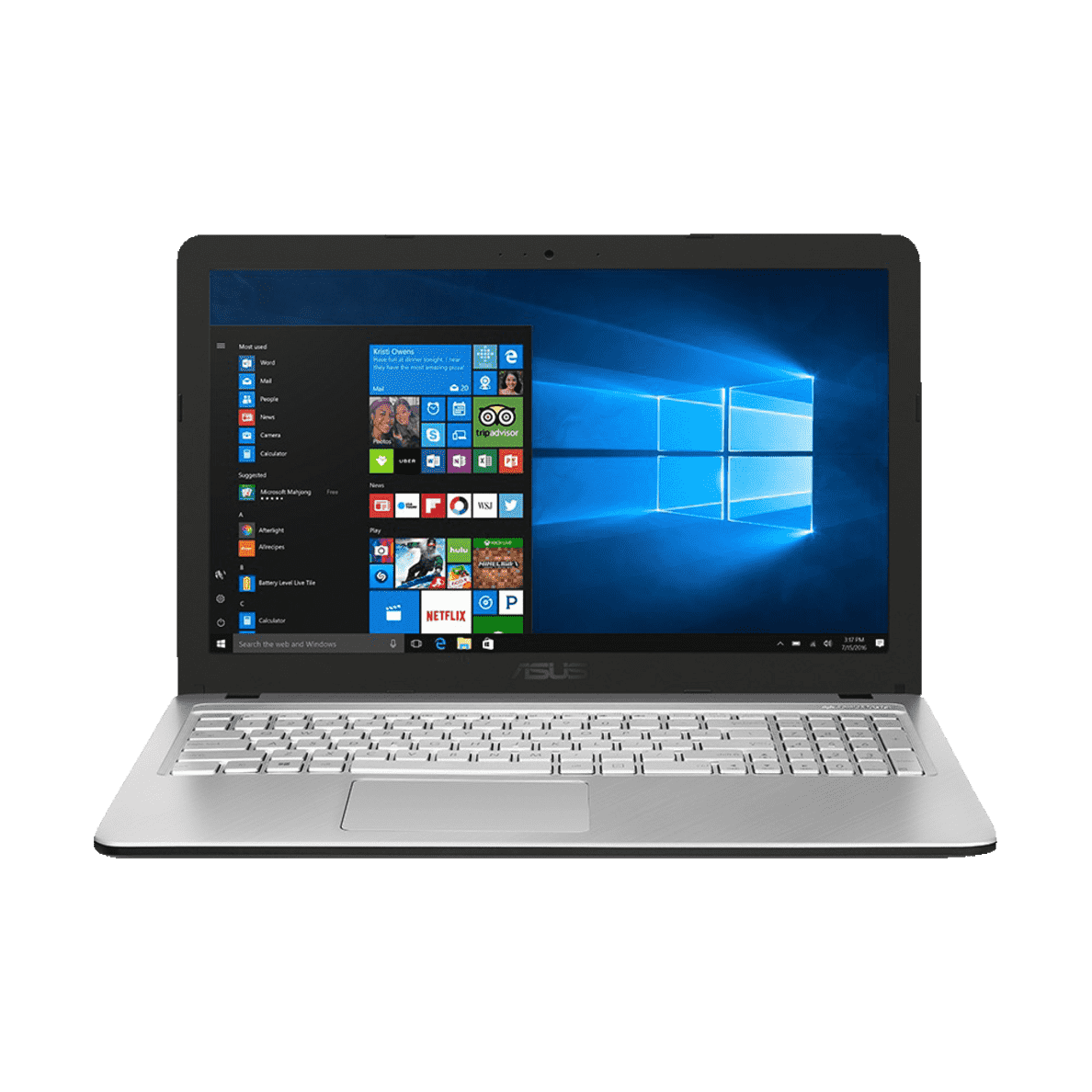 ASUS R543UA-DM1607T Notebook mit Core™ i5, 8 GB RAM, 256 GB & Intel UHD Graphics 620 in Transparent Silver