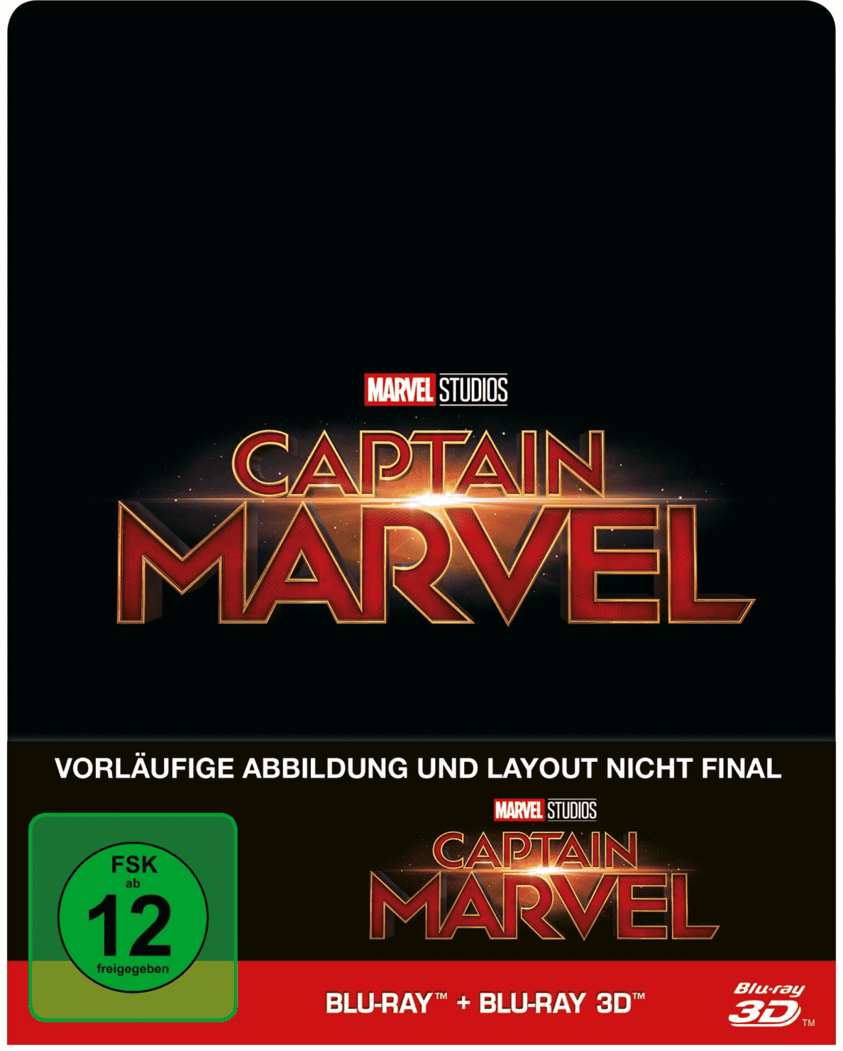 Captain Marvel Limited Steel-Book auf 3D Blu-ray (+2D)