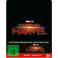 Captain Marvel Limited Steel-Book [3D Blu-ray (+2D)]