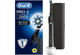 Cepillo eléctrico - Oral-B Pro2500 Cross action all black, Negro