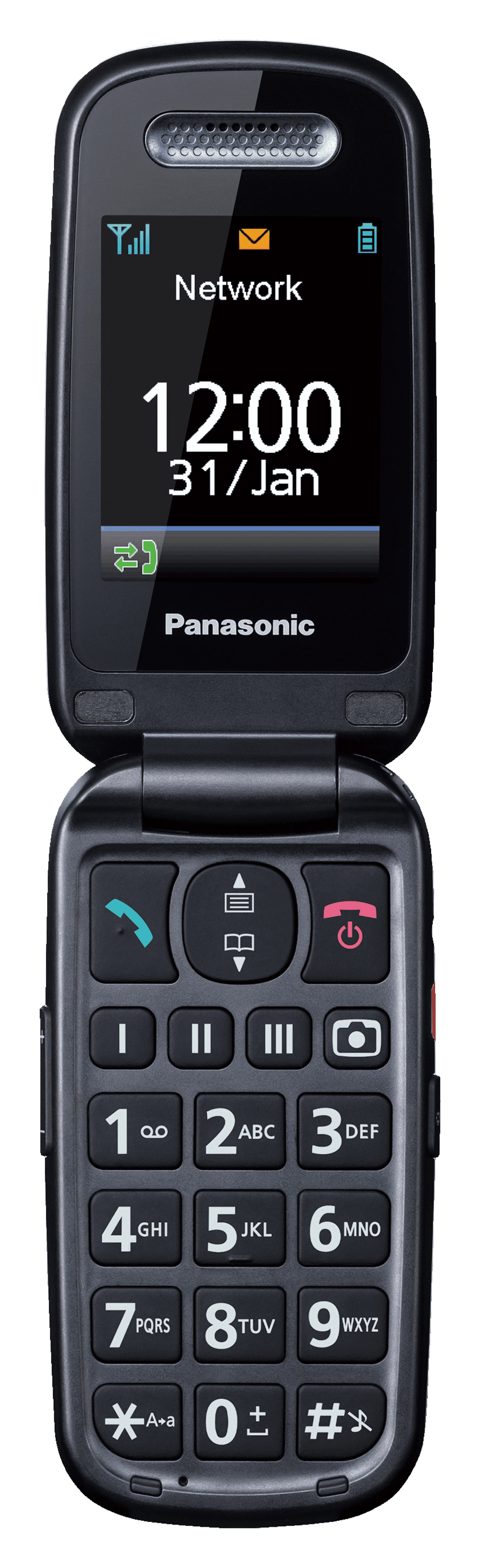 PANASONIC KX-TU 456 EXRE/RED/2,4´´ Handy Rot