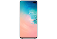 SAMSUNG Leather Cover , Backcover, Samsung, Galaxy S10+, Weiß
