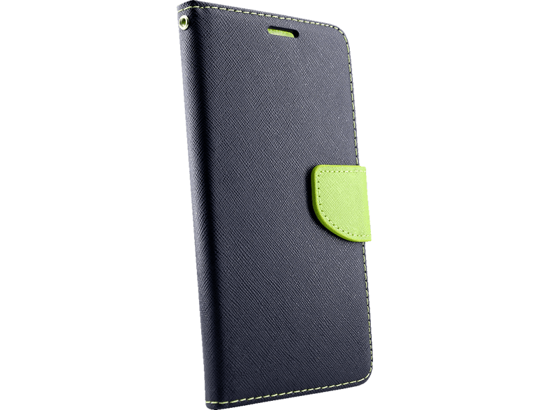 AGM  28270 Fashion Bookcover Xiaomi Mi A1 Obermaterial Kunstleder, Thermoplastisches Polyurethan Marineblau/Lime | 04026436282700