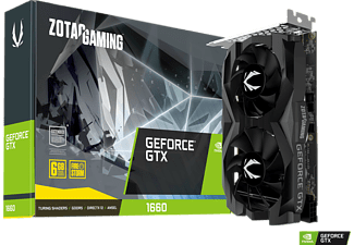 ZOTAC GeForce GTX 1660 Twin Fan 6GB (ZT-T16600F-10L) (NVIDIA, Grafikkarte)