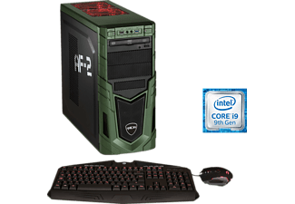 HYRICAN MILITARY GAMING 6327, Gaming-PC mit Core™ i9 Prozessor, 32 GB RAM, 480 GB SSD, 1 TB HDD, GeForce® RTX™ 2080 Ti, 11 GB