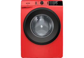 GORENJE WE 74S3PR Colour Edition Waschmaschine, 7 kg, Frontlader, 1400 U/Min., Rot