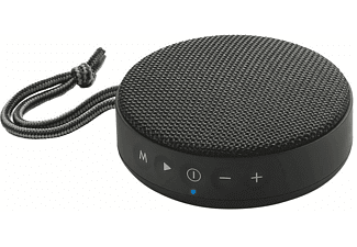 Altavoz inalámbrico - Vieta Round Up, 10W, Bluetooth, Mini Jack 3.5, USB, Negro