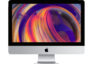 APPLE iMac MRT42D/A-149853 mit internationaler Tastatur, 21.5 Zoll, All-In-One PC, 256 GB Speicher, 8 GB RAM, Core i5 Prozessor, Radeon™ Pro Vega 20, Silber