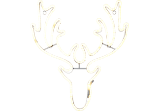 Weihnachtsbeleuchtung Silhouette.Star Trading Silhouette Neoled Deer Head Led Weihnachtsbeleuchtung