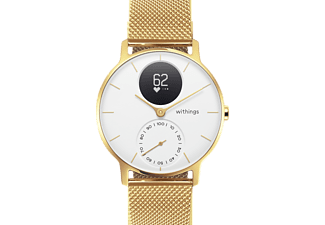 WITHINGS  Steel HR Limited Edition, Smartwatch, 200 mm, Silikon, Champagner Gold/Weiß