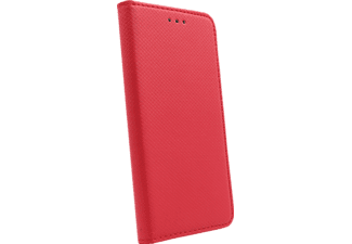AGM 27842 Bookcover, Xiaomi Redmi 6A, Obermaterial Kunstleder, Thermoplastisches Polyurethan, Kunststoff, Rot