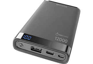 CELLULARLINE Powerbank Freepower Manta S 12 000 mAh Zwart (FREEPMANTA12USBCK)