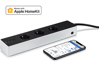 EVE Energy Strip, WLAN Steckdosenleiste, kompatibel mit: Apple HomeKit