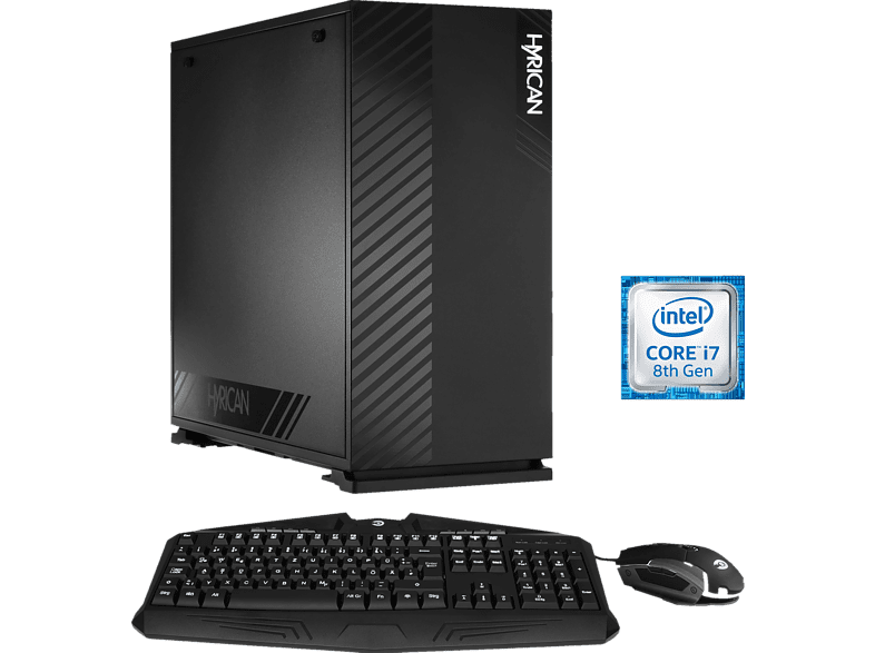 HYRICAN ALPHA 6333, Gaming-PC mit Core™ i7 Prozessor, 16 GB RAM, 480 GB SSD, 1 TB HDD, Geforce® RTX 2080 Ti, 11 GB