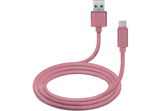 SBS MOBILE Polo Collection USB-C-kabel 1 m - Rosa
