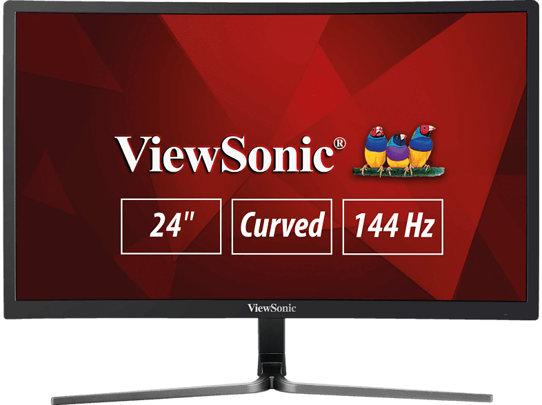 VIEWSONIC VX2458-C-MHD Full-HD Monitor (1 ms Reaktionszeit, 144 Hz)