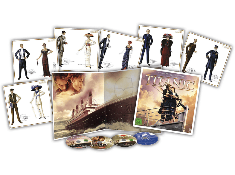 TITANIC Special Collector's Edition inkl. Soundtrack (4 Discs + Art Cards) [Blu-ray + DVD]