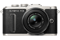 OLYMPUS PEN E-PL8 Systemkamera 16.1 Megapixel mit Objektiv 14-42 mm , 7.6 cm Display   Touchscreen, WLAN