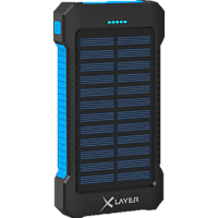 XLAYER Plus Solar Powerbank 8.000 mAh (29.6 Wh) Schwarz, Blau