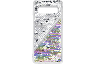 HAMA Paillettes, Backcover, Samsung, Galaxy S10, Perlmutt/Silber