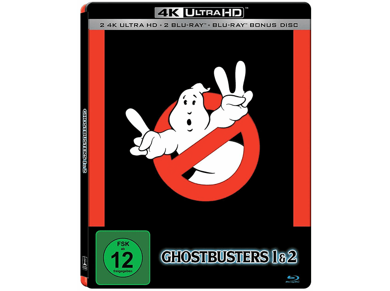 Ghostbusters I & II [4K Ultra HD Blu-ray + Blu-ray]