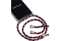 NECKLACY Necklace Case Pink Infusion , Backcover, Samsung, Galaxy S10, Thermoplastisches Polyurethan, Pink/Transparent